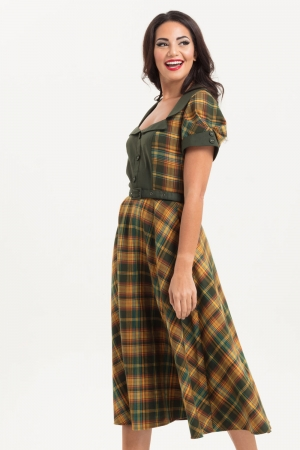 Ella Tartan Flared Dress