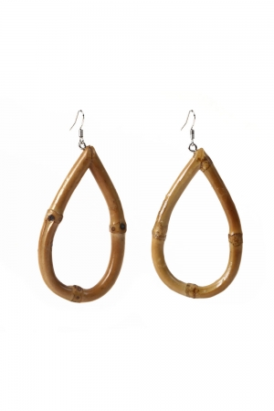 Frannie Tear Bamboo Earrings