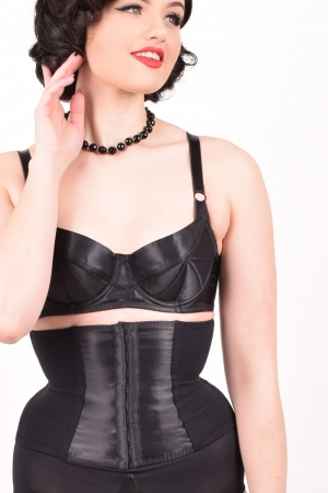 Black Waspie Glamour Nouveau by What Katie Did