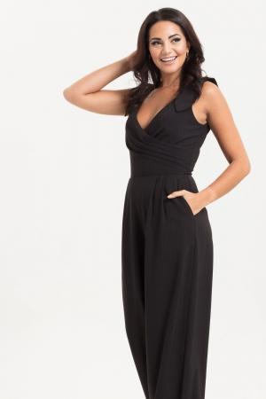 Lyla Black Pinstripe Jumpsuit