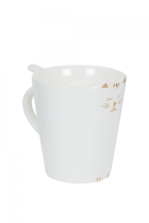 Kitty Meow Mug White
