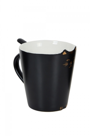 Kitty Meow Mug Black