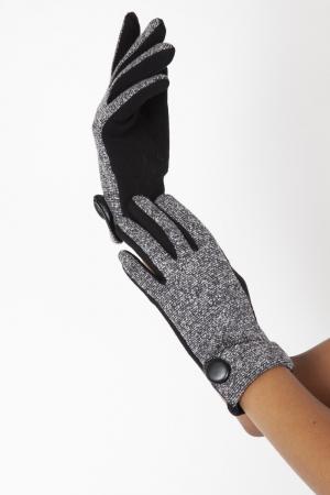 Evelyn Black 40s Speckled Gloves