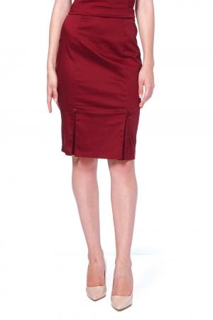 Sandy Burgundy Pencil Skirt