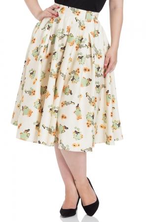 Verity Cactus Print Swing Skirt