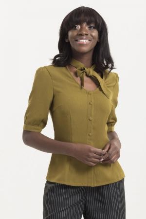 Katherine 40s Style Green Blouse