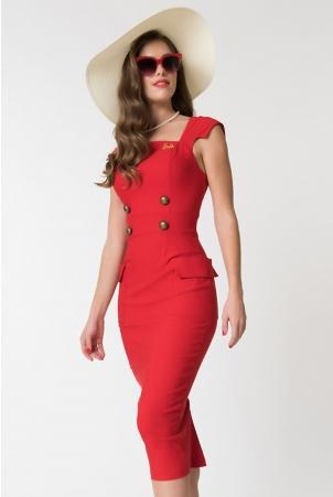 Barbie Sensation Red Wiggle Dress by Unique Vintage