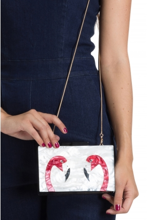 Flamingo Clutch