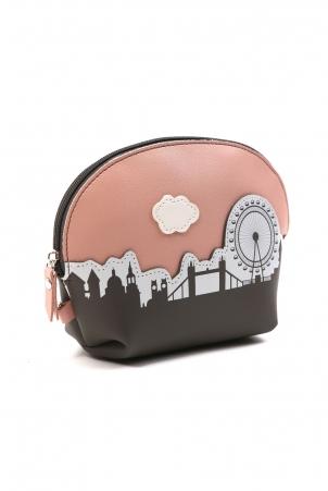 I Love London Pink Make Up Bag