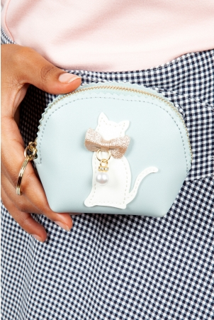 Coco Kitty Coin Purse in Mint