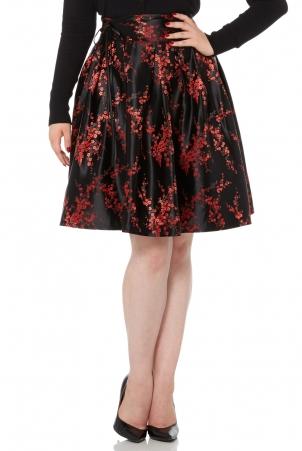 Cara Flared Rose Skirt