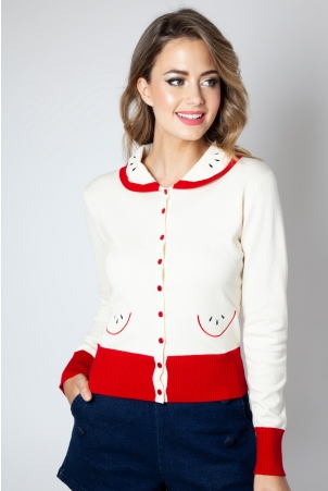 Clara Apple Cardigan