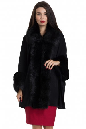 Agatha Faux Fur Cape