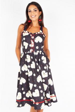 Daisy Hearts Flared Dress