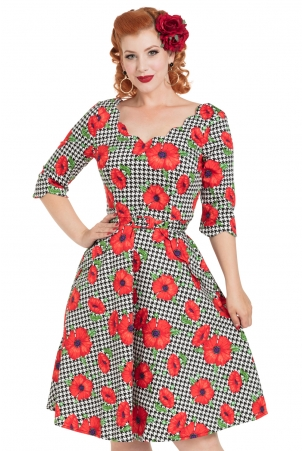 Suzanne Poppy Print Dress