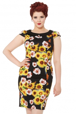 Nahla Sunflower Wiggle Dress