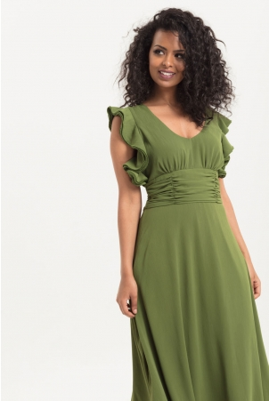 Amelia Olive Gown