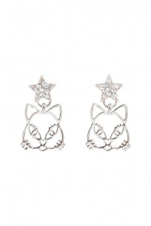 Star Kitty earrings