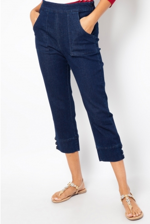 Eva Denim Capri Pants