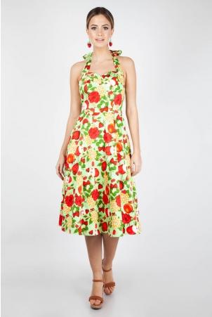Gloria Fruit Print Dress