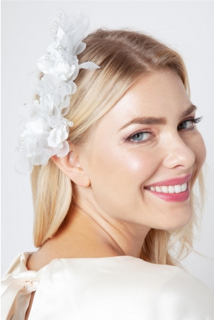 Fifi Soft Floral Bridal Hair Piece