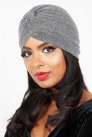 Leila Silver Sparkle Turban