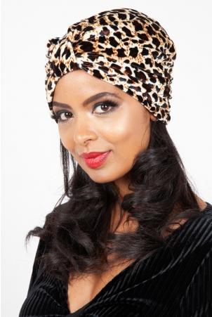 Cecelia Leopard Print Turban