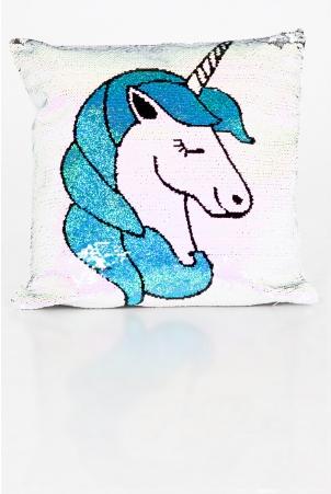 Unicorn Dreams Two Tone Sequin Cushion Cover
