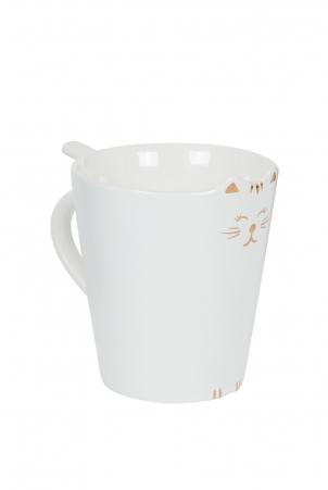 Kitty Meow Mug White