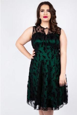 Penny Plus Size Green Lace Dress