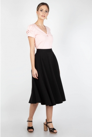 Sandy Black Full Circle Skirt