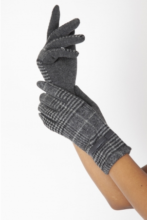 Clara Grey 40s Plaid Gloves