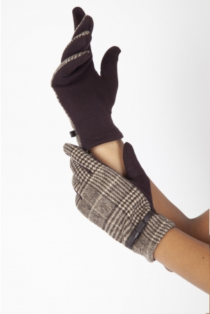 Clara Brown 40s Plaid Gloves