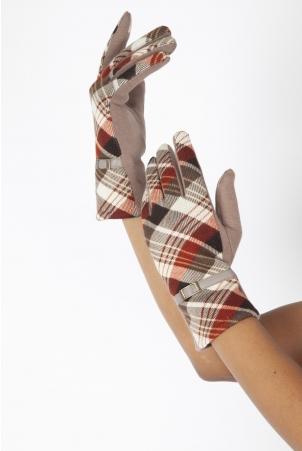 Mabel Beige 40s Belted Gloves