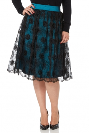 Shannon Lace Overlay Skirt