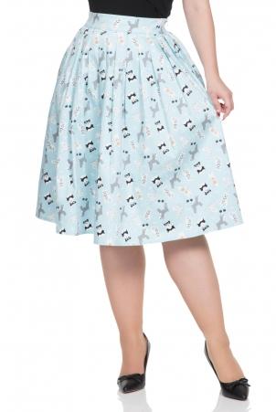 Wendy Dog Print Skirt