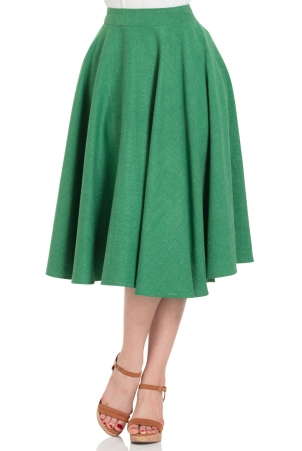 Sandy Green Full Circle Skirt
