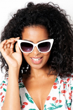 Jennifer Retro White Shades