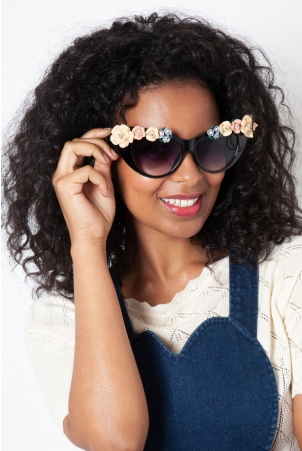 Audrey Oversized Floral Sunglasses