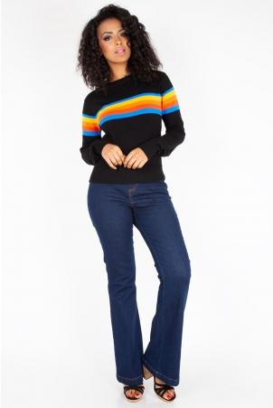 Loretta High Waisted Bell Bottom Trousers