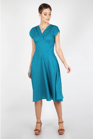 Tabby Polka Dot Tea Dress