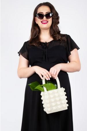 Venus Square Pearl Handbag