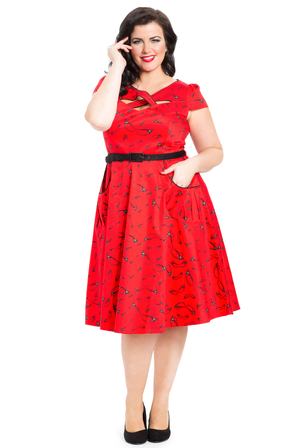 Connie Red Plus-Size Dress