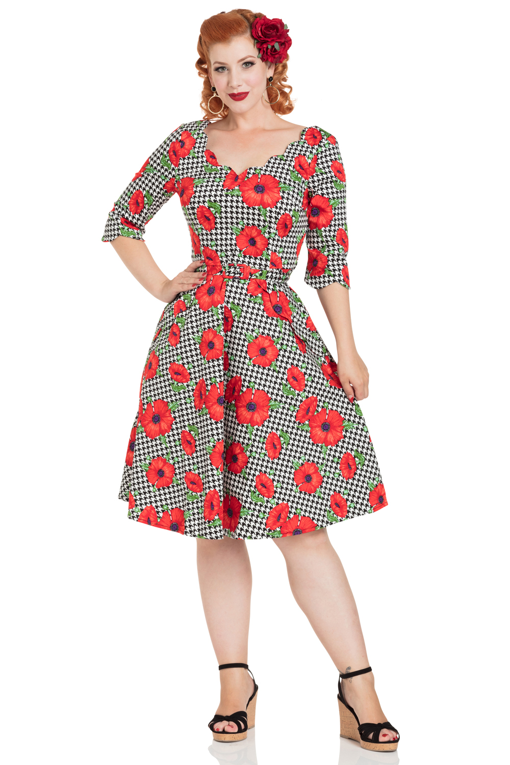 Suzanne Poppy Print Dress