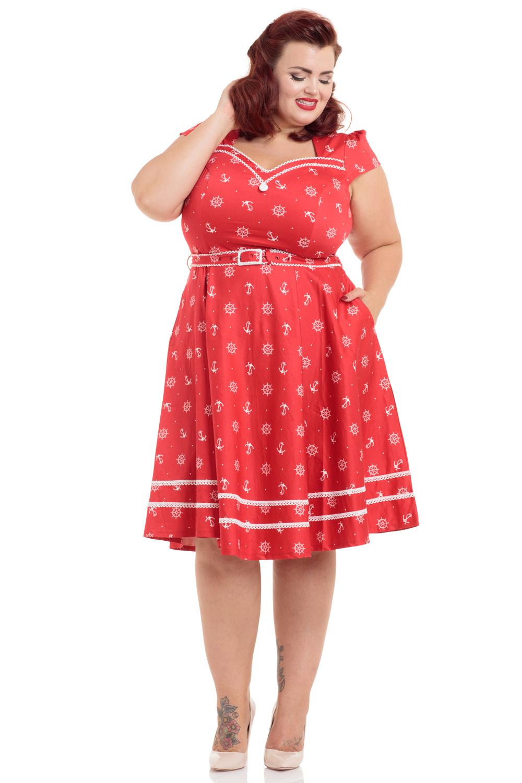 Leslie Plus Size Nautical Dress