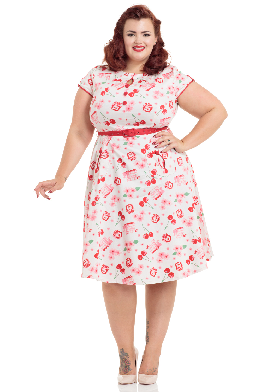 Hilda Plus Size Cherry Print Dress