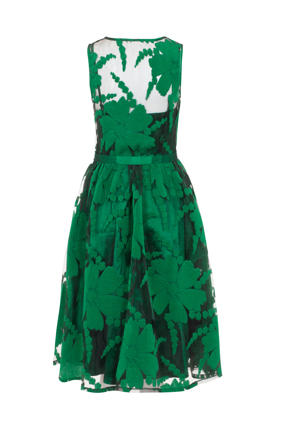 Maggie Green Floral Plus-Size Dress