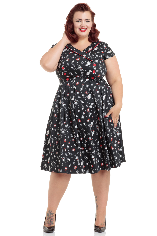Kat Clock Swing Plus Size Dress