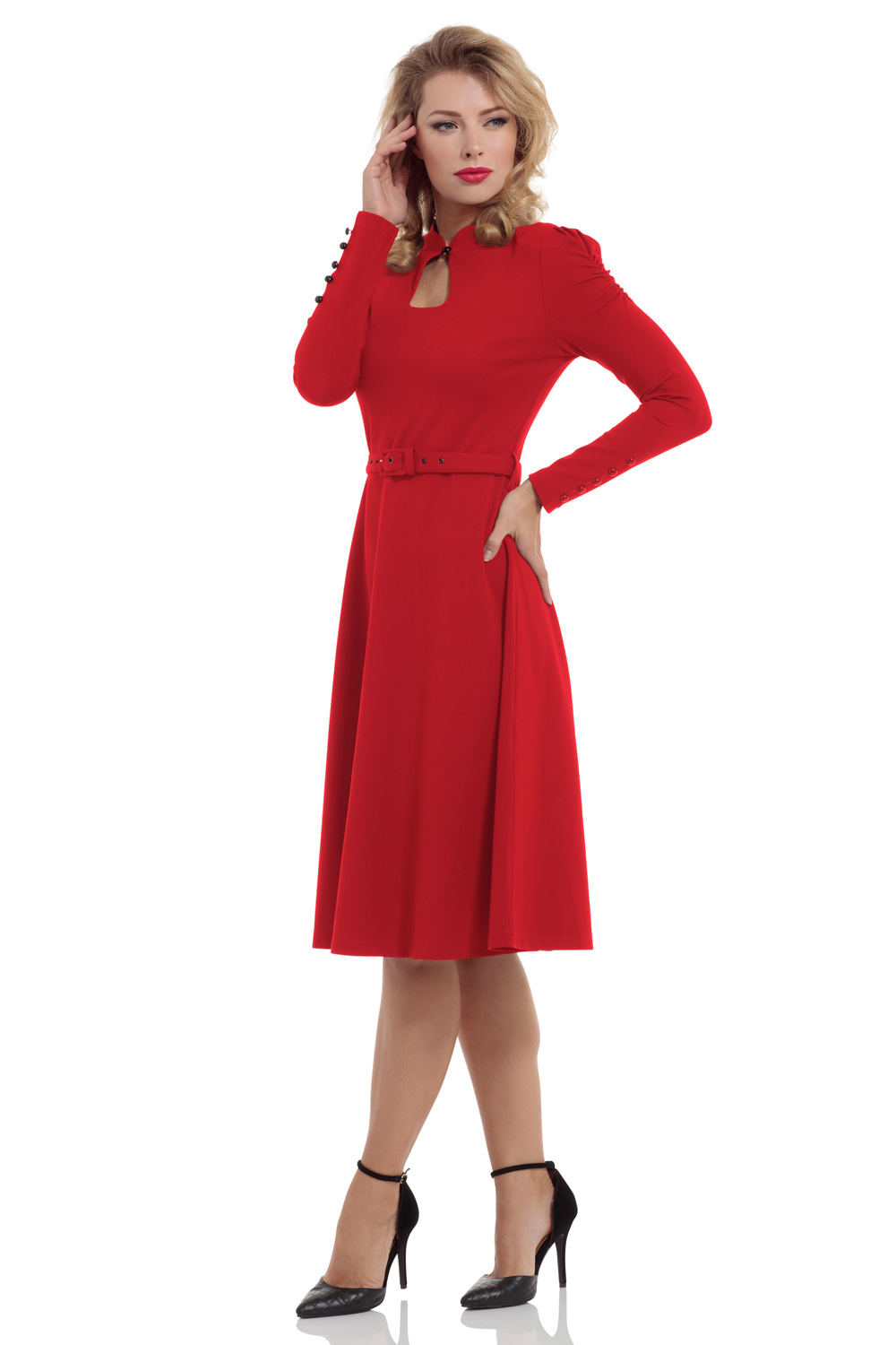 Dita Red 50's Flared Dress