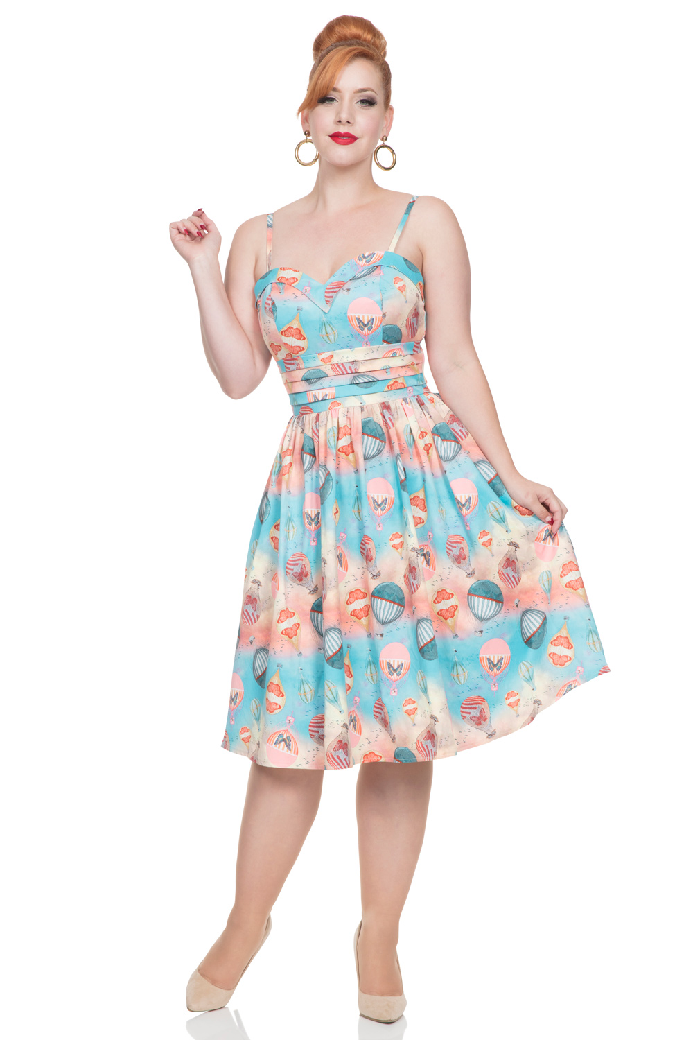 Aria Hot Air Balloon Print Dress